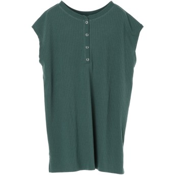 グリーンパークス Green Parks Ray Cassin 2wayヘンリーネックTシャツ (Green)