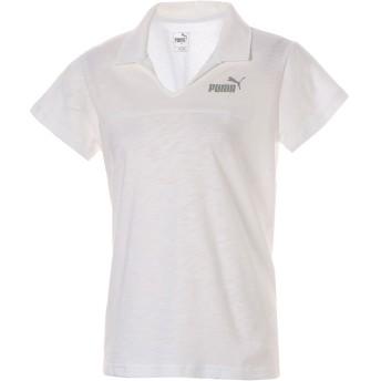 【プーマ公式通販】 プーマ ESS+ ウィメンズ オープンポロシャツ 半袖 ウィメンズ Puma White |PUMA.com