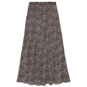 【リリーブラウン/Lily Brown】 チューリップ柄切り替えスカート