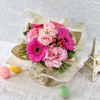 【日比谷花壇】そのまま飾れるブーケ「ハッピーバースデー(ピンク)」