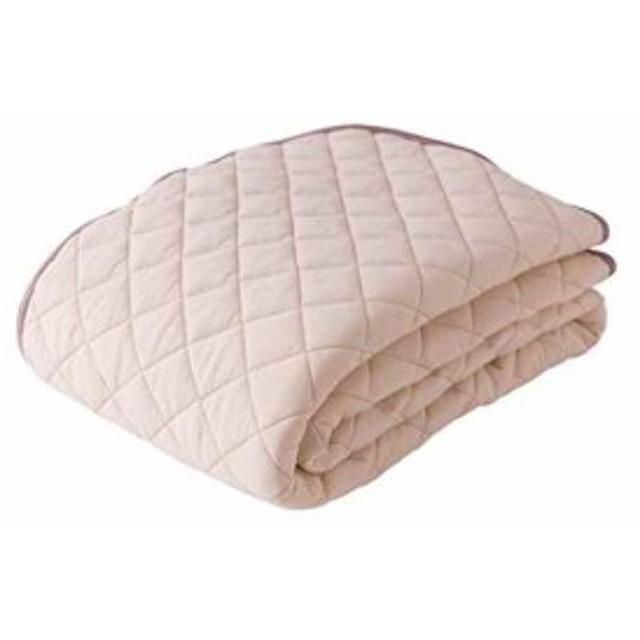 mofua natural 敷きパッド 綿100% 涼感 ICECOTTON[51260105](ベージュ, シングル)