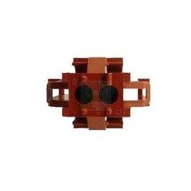 1-640517-0 2P HOUSING TE / Tyco AMP_ MR II 棕色(豬肝色)連接器【ROHS】--含稅【佑齊企業 iCmore】