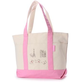 ディズニー Disney ディズニー【Disney】キャンバストートバッグ (ピンク)
