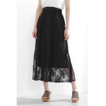 PROPORTION BODY DRESSING / プロポーションボディドレッシング  《EDIT COLOGNE》ワッシャーレーススカート