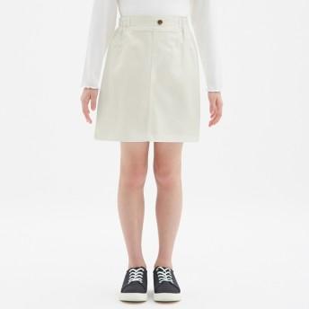 (GU)GIRLSカラースカート OFF WHITE 110