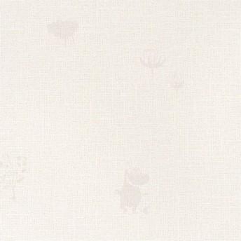 壁紙屋本舗 のりなし 壁紙 おしゃれ 北欧 ムーミン アイボリー パール調 リトルミイ ムーミンパパ フローレン フィンランド SFE-6309 FE-6309 1m単位 切売