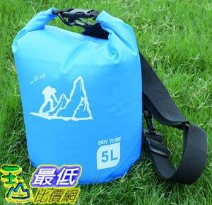 [玉山最低比價網] 5公升 手提側背 防水包 防水袋 漂流袋 圓筒包 收納袋 溯溪 游泳 衝浪 泛舟(801024_L418