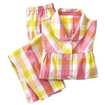 40%OFF【レディース】 シャツパジャマ(綿100%) - セシール ■カラー:ピンク系 ■サイズ:3L,5L