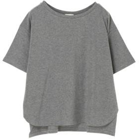 アースミュージックアンドエコロジー earth music & ecology オーガニックコットンBig Tシャツ (Charcoal Gray)