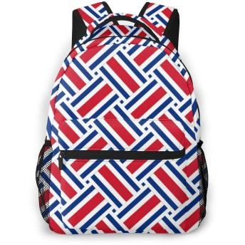 リュック コスタリカの国旗 バックパック リュックサック 大容量 軽量 耐久性 アウトドア 学生 通学 外出 男女兼用
