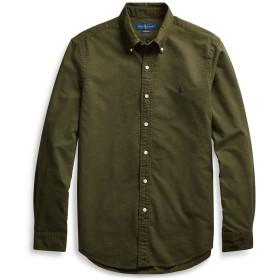 《期間限定セール開催中!》POLO RALPH LAUREN メンズ シャツ ダークグリーン S コットン 100% SLIM FIT COTTON OXFORD SHIRT