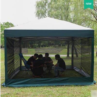 【10-12人戶外遮陽防雨棚-9平米-1套/組】折疊伸縮10-12人大空間露營帳篷套裝-7670621