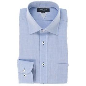 【TAKA-Q:トップス】形態安定抗菌防臭スリムフィットワイドカラー長袖ビジネスドレスシャツ