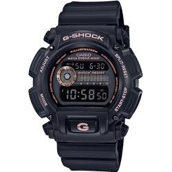 【CASIO 】G-SHOCK 復刻經典潮流運動錶-黑x玫瑰金(DW-9052GBX-1A4)