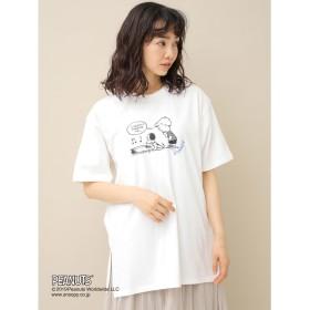 アースミュージックアンドエコロジー earth music & ecology Peanuts/earthBIGTシャツ (Off White)
