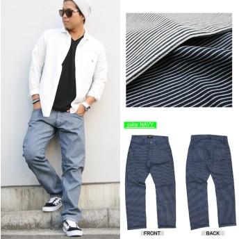 パンツ・ズボン全般 - Maqua-store メンズ パンツ ヒッコリー ヒッコリーストライプパンツリ アルコンテンツ