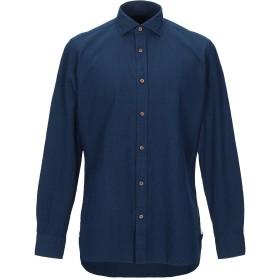 《セール開催中》GIAMPAOLO メンズ シャツ ダークブルー 40 コットン 100%