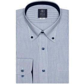 ブリックハウス ワイシャツ 長袖 形態安定 ボタンダウン 標準体 メンズ BM019500AC12B1A-14 ブルー S-80