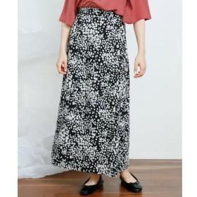 【レイカズン/RAY CASSIN】 単色花柄セミフレアロングスカート