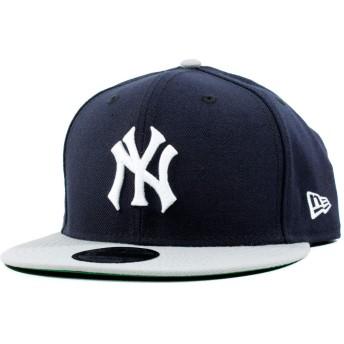 NEW ERA(ニューエラ) 9fifty 帽子 スナップバックキャップ MLB ニューヨーク ヤンキース ネイビー/グレー