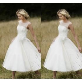 ウェディングドレス 短いティーレングす ウェディングドレスブライダルドレスカスタムサイズ