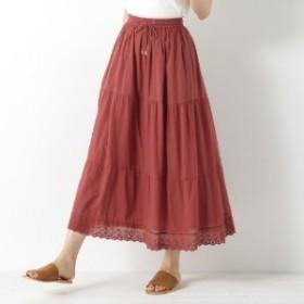 コットンボイル素材の切替スカート