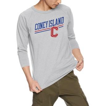 [チャンピオン] T1011 ラグラン7分袖Tシャツ MADE IN USA C5-M401 メンズ オックスフォードグレー 日本 M (日本サイズM相当)