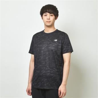 (NB公式)【50%OFF】(ログイン購入で最大8%ポイント還元) メンズ 【SALE】NBRC プリントショートスリーブTシャツ (CMO カモ) ランニング スポーツウェア / トップス シャツ ランシャツ ニューバランス newbalance セール