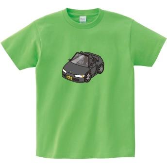 MKJP カスタムTシャツ ホンダ ビート PP1 車カラー:ブラック シャツカラー:ライム KIDS120