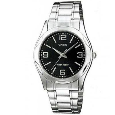 CASIO 時尚輝煌指針紳士錶(MTP-1275D-1A2)-黑/35mm