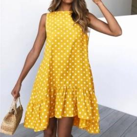 [送料無料]夏 カジュアル パーティードレス キャバドレス2019新作 夏物 大きいサイズ ゆったり 体型 XL
