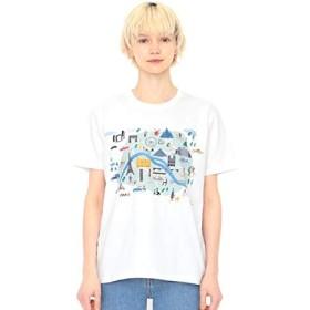 グラニフ(graniph) 【ユニセックス】Tシャツ/パリ(ローラユンガー)【001ホワイト/L】