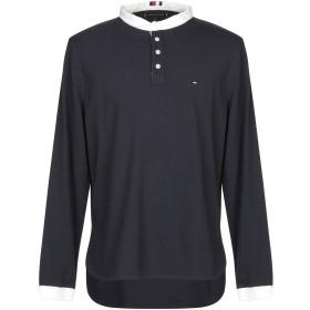 《期間限定セール開催中!》TOMMY HILFIGER メンズ ポロシャツ ダークブルー M コットン 100%