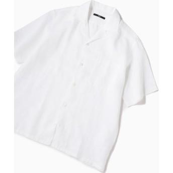 【シップス/SHIPS】 SC: リラックスシルエット ラミー オープンカラーシャツ