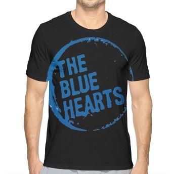 ザブルーハーツ メンズ シャツ 半袖 薄手 カットソー カジュアル トップス オリジナル プリント シンプル ファッション