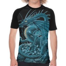 メンズ 夏tシャツ ショートスリーブ の 山 頭蓋骨 ドラゴン クルーネック 半袖 吸汗速乾 ショートスリーブ 快適 ハイクオリティー シンプル カジュアル Tシャツ 少年野球 ベースボールウェア