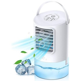 冷風扇 冷風機 卓上 扇風機 ミニ エアコンファン 空気浄化 気化式加湿 冷却機能 小型クーラーオフィス 風量3段階 角度調整可能 日本語説明書付き