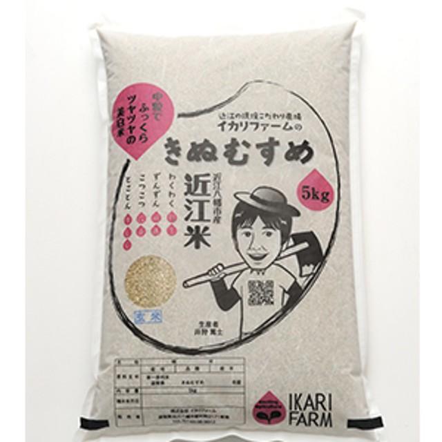 【30年産】中粒でふっくらツヤツヤの美白米「きぬむすめ」玄米5kg