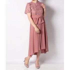 (Roomy's/ルーミィーズ)刺繍レーステールカットドレス/レディース ピンク