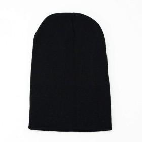 Lulu&berry レディース メンズ ニット帽 ビーニー帽 ロングサイズ ブラック