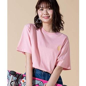 ウィゴー(メンズ)(WEGO) ワンポイントフルーツ刺繍Tシャツ【ピンク/M】