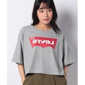 【10%OFF】 アースミュージック&エコロジー ■Levi's for earth ロゴTシャツ レディース 杢グレー M 【earth music & ecology】 【セール開催中】