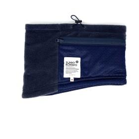 POCKET WARMER+Ag(ポケットウォーマー+銀イオン) 抗菌・防臭機能 制菌加工 ポケットが付いたネックウォーマー 男女兼用フリーサイズ ホッカイロを入れると首から体の芯を温める (NAVY)