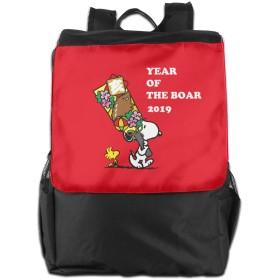 ビジネスリュック スヌーピー 旅行バッグ リュック デイリーリュック リュックサック バックパック 登山リュック 大容量 防水 アウトドア 防災 災害 旅行用 通勤 通学 学生 多機能 通気性 男女兼用