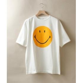 (BEAVER/ビーバー)CAL O LINE - INNOVATIVE/キャル オー ライン イノベイティブ SMILE FRONT TEE スマイル Tシャツ/メンズ WHITE 送料無料