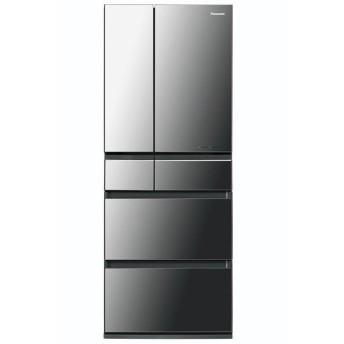 パナソニック 6ドア冷蔵庫 450L NR-F453HPX-X オニキスミラー