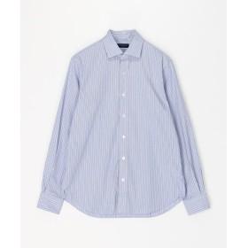 トゥモローランド ブリティッシュポプリン セミワイドカラーシャツ メンズ 66ブルー系 M 【TOMORROWLAND】