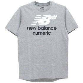 NEW BALANCE NUMERIC T-SHIRT ニューバランス Tシャツ STACKED スケートボード スケボー SKATEBOARD グレー,L