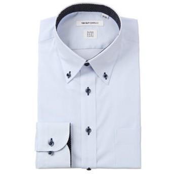 【THE SUIT COMPANY:トップス】【SUPER EASY CARE】ボタンダウンカラードレスシャツ 織柄〔EC・FIT〕