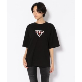 (RoyalFlash/ロイヤルフラッシュ)【別注】Guess×ROYAL FLASH/ゲス バイヤスプリントTシャツ/メンズ BLACK